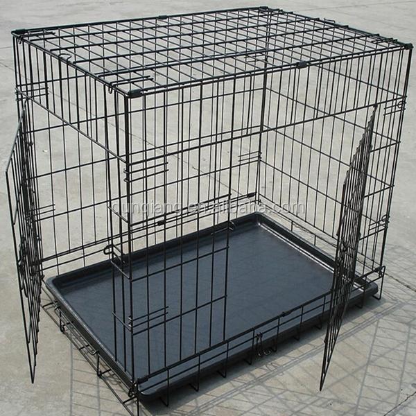 hot vente forte grande en acier inoxydable chien cage l alimentation haute qulaity chien cage. Black Bedroom Furniture Sets. Home Design Ideas