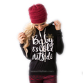 2016 Fashion Loose casual Autumn womens hoodie letter Long sleeve hoodie coat Tops Pullovers Easygocat