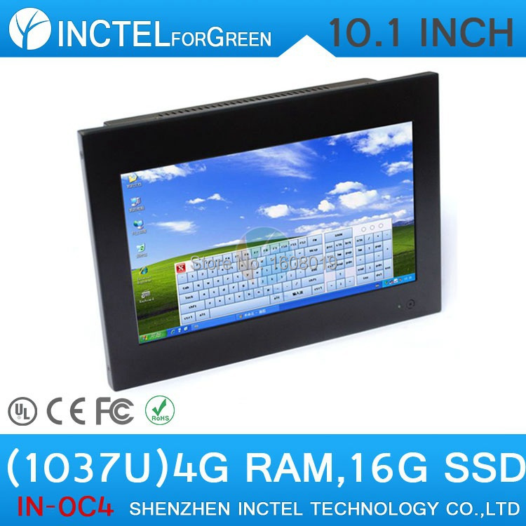 10 1 inch 4 wire resistive screen all in one pc with Intel celeron C1037U 1