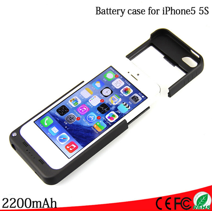 2200mah for iphone 5 5s external portable emergency battery backup charger device chargeur coque. Black Bedroom Furniture Sets. Home Design Ideas