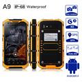Original A9 IP68 MTK6582 Quad Core 1GB RAM 8GB ROM Rugged Waterproof Dustproof 3G WCDMA Android