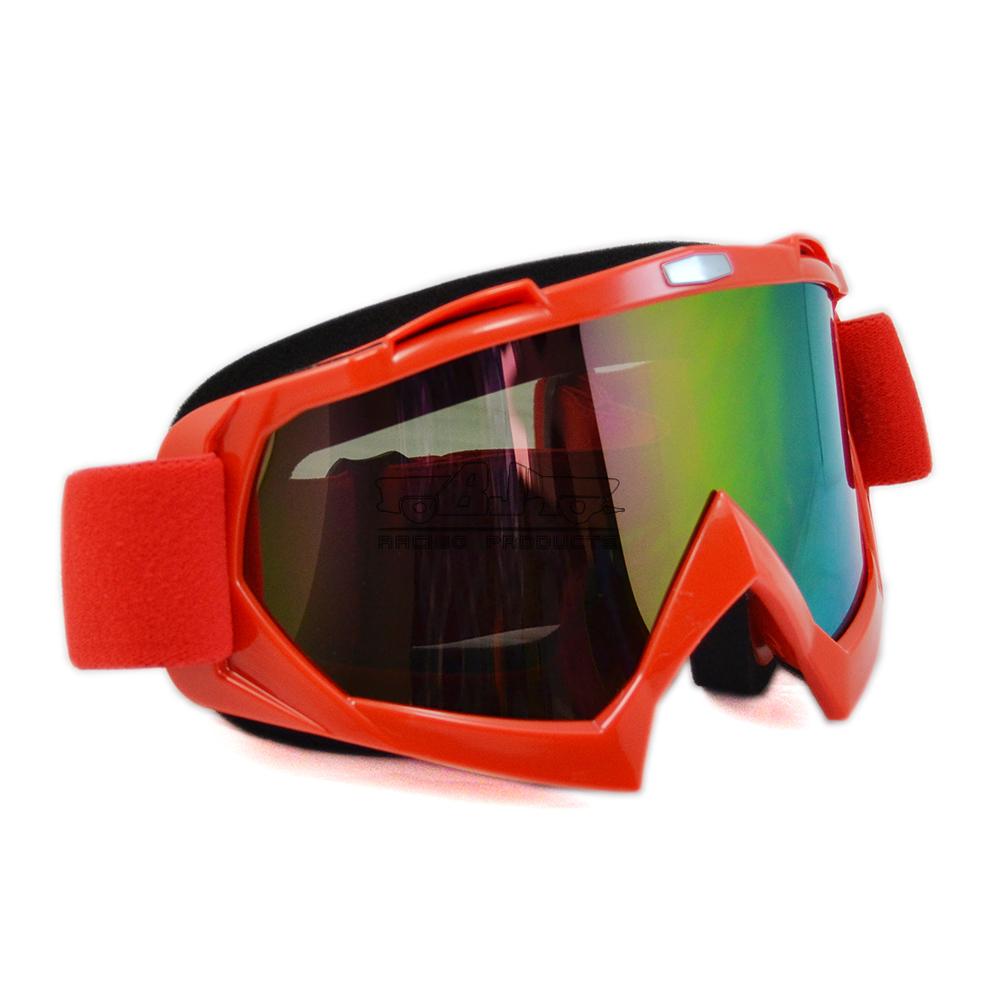 Mg-001a-rd отверстием-красно-взрослого мотоцикл очки мотокросс по пересеченной местности гибкая очки прозрачные линзы