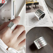 100% 925 пробы Серебряное индивидуальное микс модное ретро мужское и женское винтажное серебряное кольцо указательный палец(Китай)