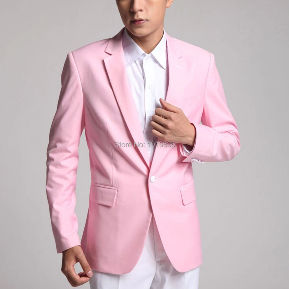 Pink Blazer For Men Fashion Ql