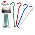 NatureHike 8pcs Lot Hot Sale 16cm Outdoor Sports Camping Hiking Aluminum Tent Pegs Stakes Hook Ground