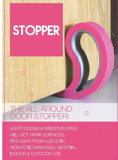 pink Stoppy Door//Window Stopper