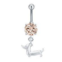 Сексуальное пляжное кольцо-Осьминог для пирсинга животных, бар, пупок, пуговица живота, хрустальное кольцо, нержавеющая сталь, летнее украш...(Китай)
