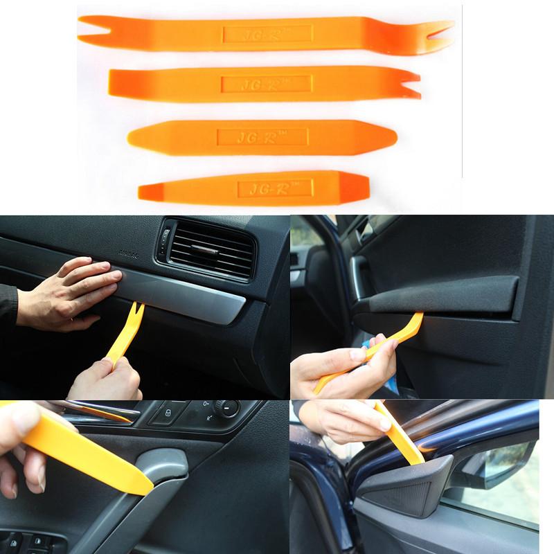 4Pcs Car UK SHIP Plastic Radio Door Clip Panel Trim Dash Audio
