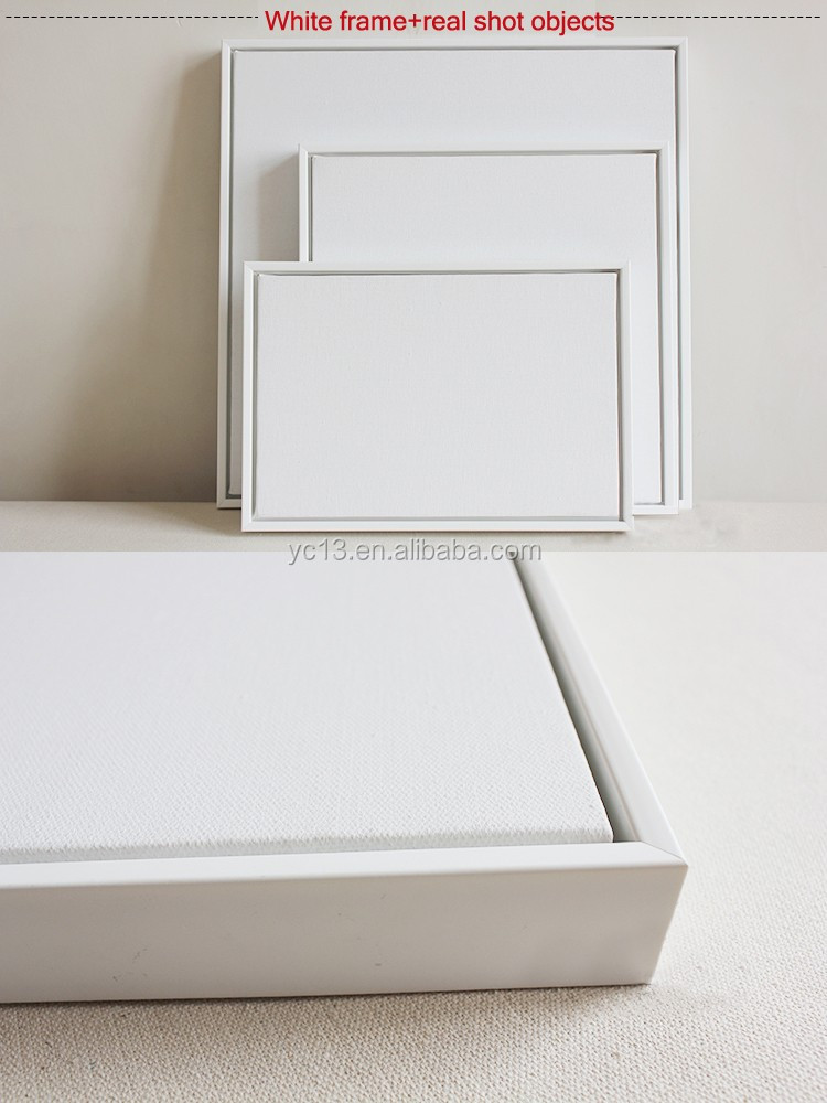 White Framed Linen Blank Mini Stretched Canvas For Paintings