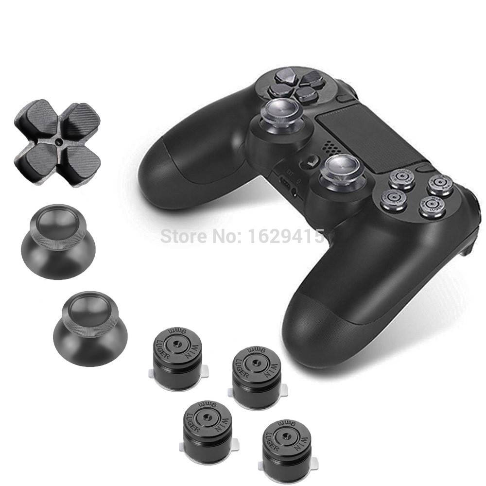 Custom For Sony Playstation 4 PS4 Controller Aluminum Alloy Metallic Metal  Dpad Thumbsticks and Face Buttons Mod Kit