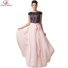 Černo růžové večerní šaty s krajkou z Aliexpress
