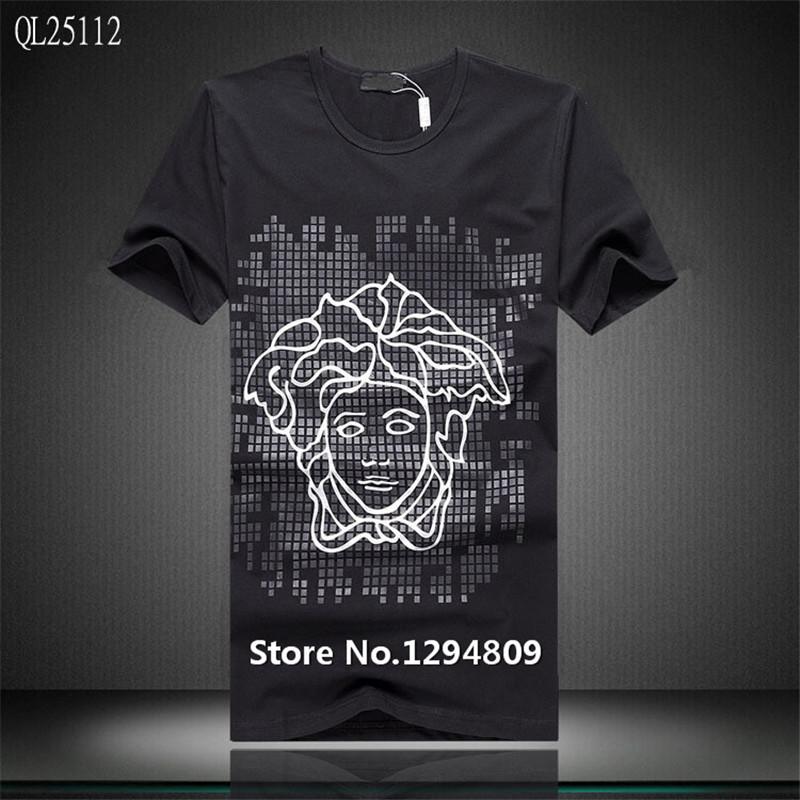6156f2fb638 2015 New Arrival Luxury Famous Brand Name T Shirt Men Tshirt Clothing T  Shirts Short T-Shirt Men Fit Summer Fashion Tops