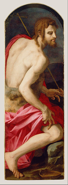 Canvas Art Prints Stretched Framed Giclee World Famous Artist Oil Painting Agnolo Bronzino <font><b>Italian</b></font> St John Baptist