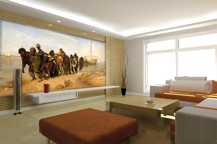 comprar pinturas al leo sobre la volga ro trackers sof amplio saln comedor dormitorio tv teln de fondo papel pintado mural de fondo de