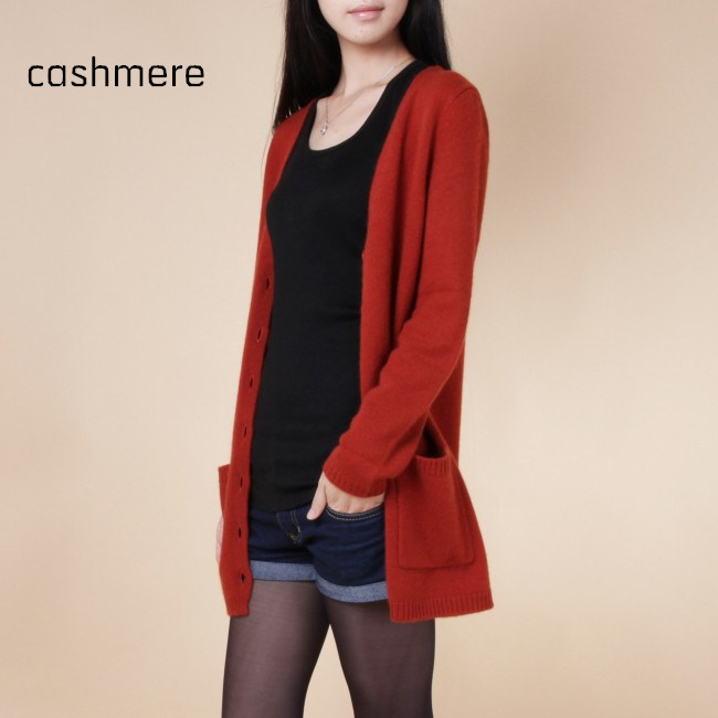 spring new sweaters women wool medium long cardigan cashmere material loose sweater for female outerwear coat