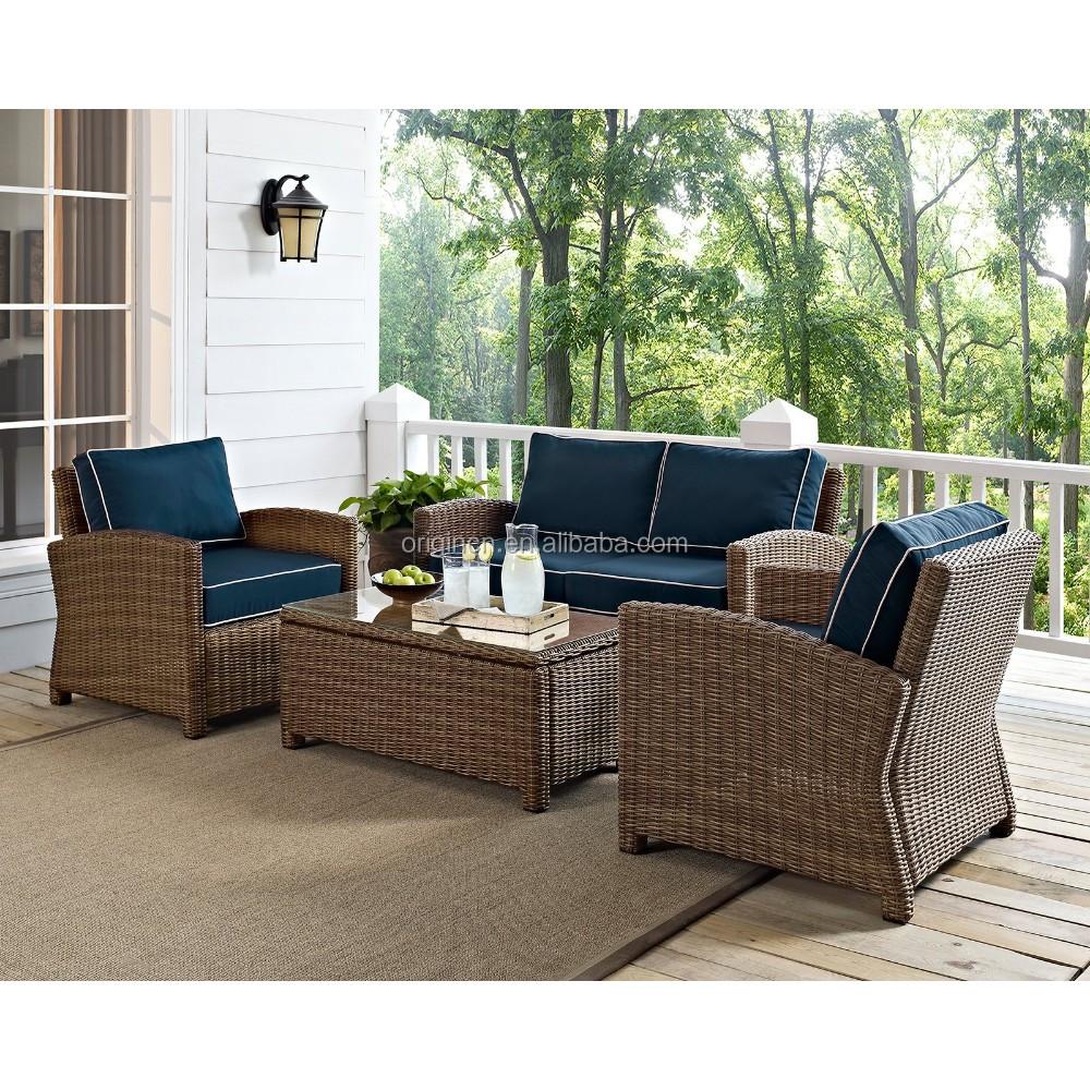 Classic Terrace Summer Winds 4 Pc Outdoor Rattan Furniture ...