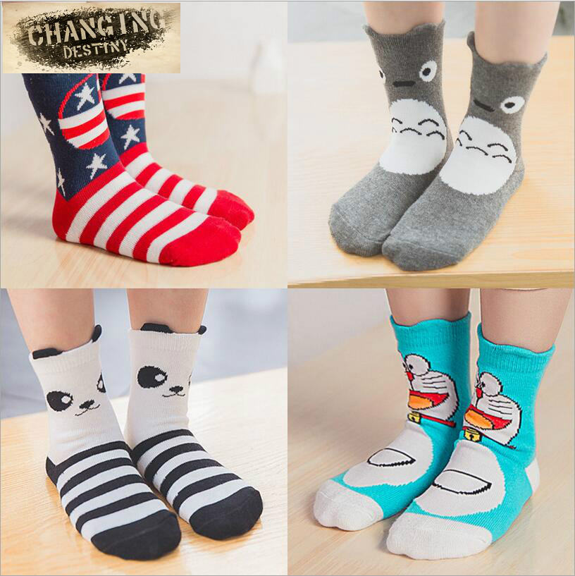Best Selling 0-2 Years Old Thin Comfortable Baby Socks Pure Color Cotton Children's  Hosiery Cartoon Cat Infant Hose