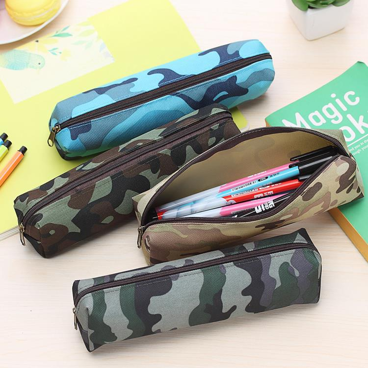 Hot Sale Boys and Girls Camouflage Pencil Case Canvas Pencil