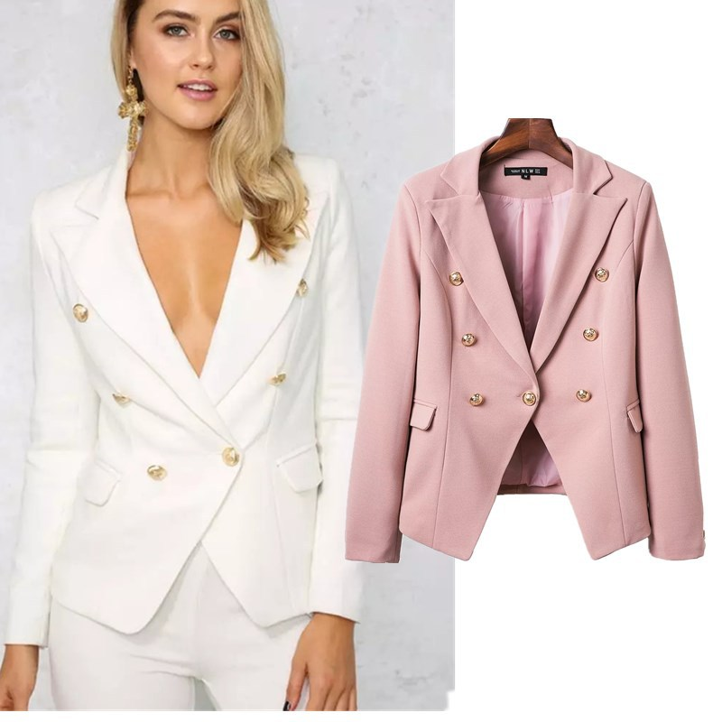 popular pink womens blazer buy cheap pink womens blazer lots from china pink womens blazer. Black Bedroom Furniture Sets. Home Design Ideas