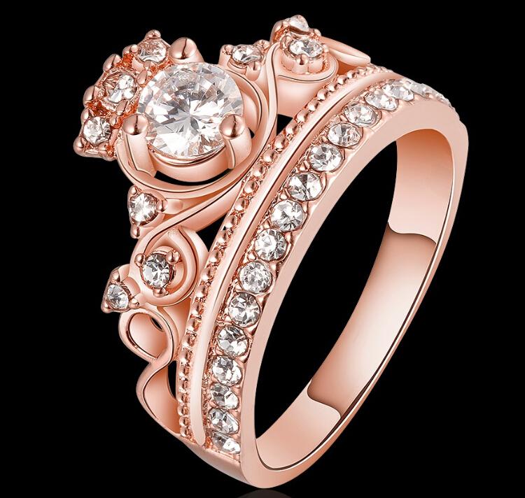 shop pandora rose gold queen ring e6e4b 32e94