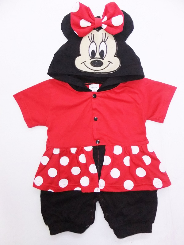 minnie mouse baby romper infant cartoon baby jumpsuits red short sleeve baby costume body suit. Black Bedroom Furniture Sets. Home Design Ideas