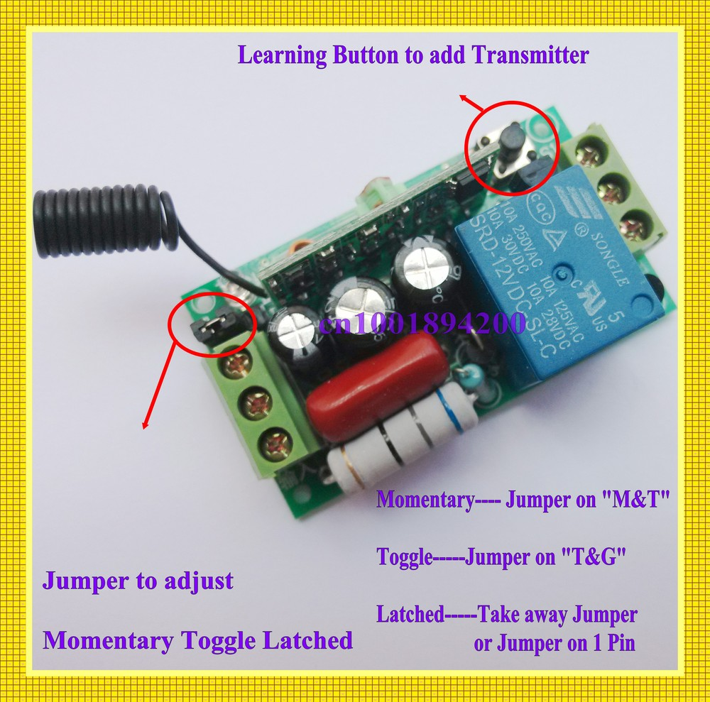 on off switch wiring diagram guitar kedsum remote on off switch wiring diagram remote control switch ac220v 1ch lighting switches remote ...