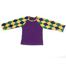 Одежда Mardi Gras для маленьких мальчиков и девочек, 2020 г. Комплект одежды для детей, комбинезон с оборками, фиолетового, зеленого и золотого цвет...(Китай)