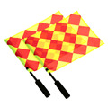 New 1 Pair Football Referee Flag Soccer Sports Match Linesman Flags With Bag Referee Fair Play