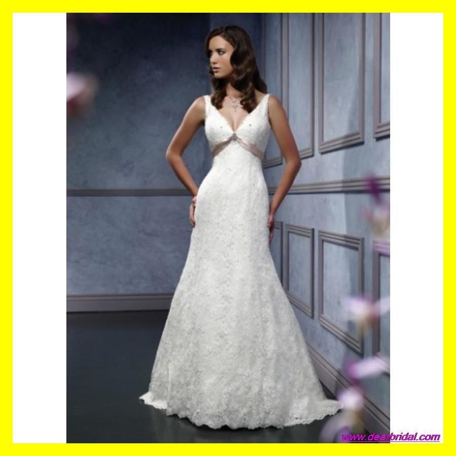 Second Wedding Dress Petite V Neck Dresses Short Vintage