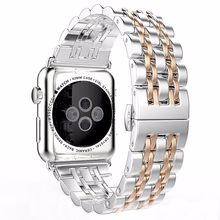 Ремешок из нержавеющей стали для Apple Watch 5 4, ремешок 42 мм для iwatch series 5 1/2/3 42 мм, ремешок для iwatch серии 4 40 мм 44 мм(Китай)