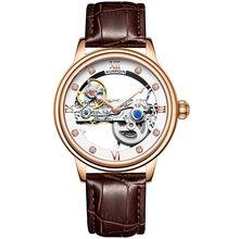 GUANQIN Мужские автоматические механические часы, водонепроницаемые светящиеся часы, топ-бренд, роскошные часы, мужские часы(Китай)