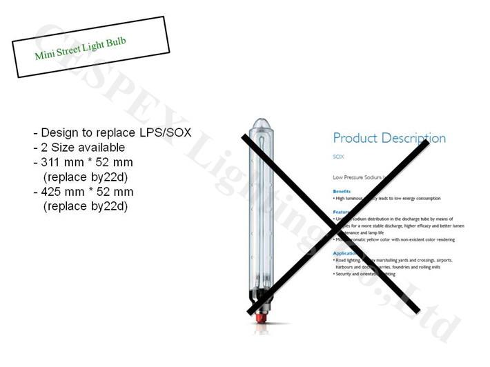 Low Pressure Sodium Lamp. Excellent Low Pressure Sodium