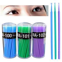 100 Pcs Small Disposable Eyelash Extension Micro Brush Applicators Mascara