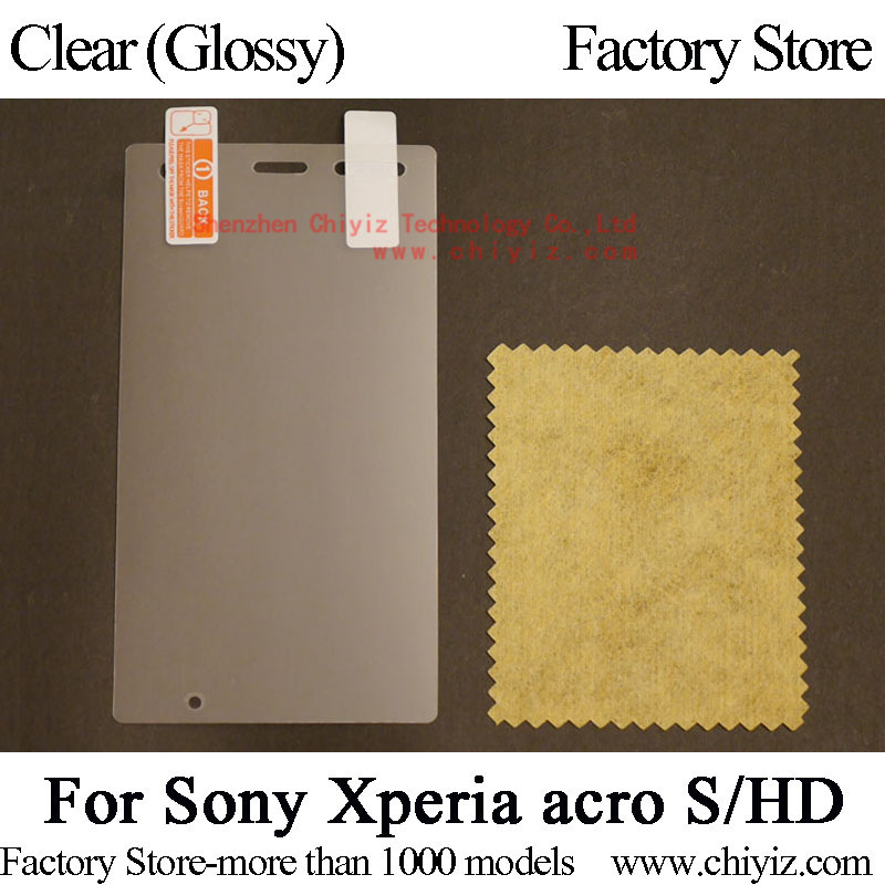 Clear Glossy Screen Protector Guard Cover protective Film For Sony Xperia acro S LT26w for Sony