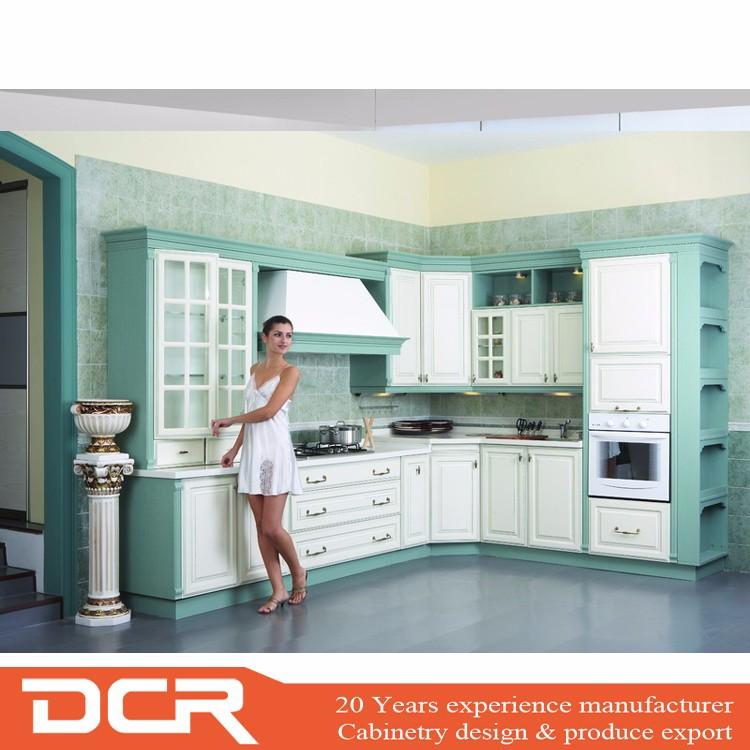 Vinyl Wrap Kitchen Cabinets: High Gloss White Color Vinyl Wrapped Pvc Kitchen Cabinet
