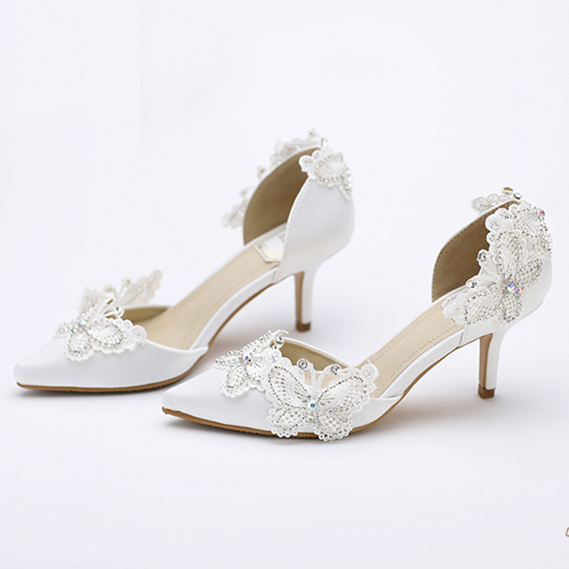Aliexpress.com : Buy Kitten Heel Pointed Toe Bridal Shoes