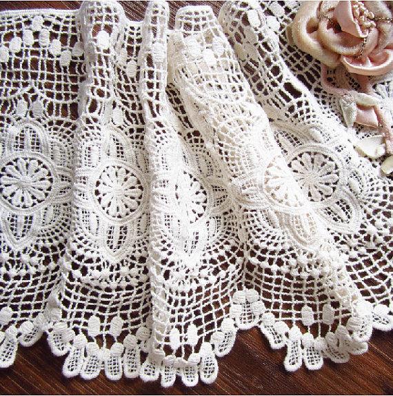 Crochet Cotton Lace Trim Vintage Style Fabric Trim Lace Antique Lace