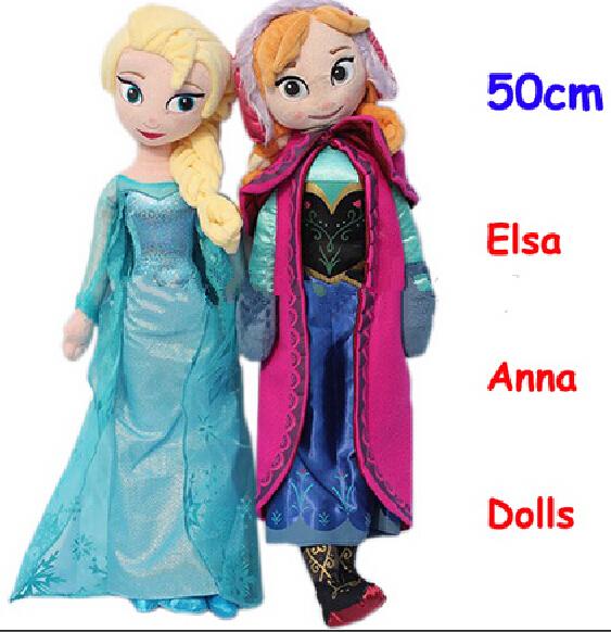 100 authentic 50cm New Fever Elsa Anna Plush Doll Toys doll Elsa Anna stuffed toys body