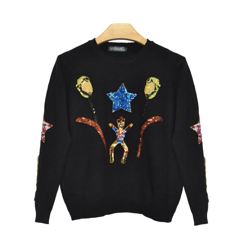 Promoción de Lentejuela Pullover Sweater - Compra