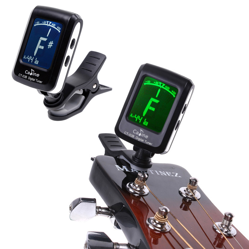 mini clip on clip on lcd display guitar tuner backlight 360 degree rotatable clip tuner for. Black Bedroom Furniture Sets. Home Design Ideas