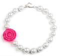 2016 Summer New Style Kids Jewelry Pearl Chokers Necklace Girls Birthday Gift Love Beauty Flower Necklace