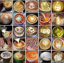 16pcs/set coffee latte cappuccino Barista art stencils/ Duster Spray Print Mold Coffee Tools