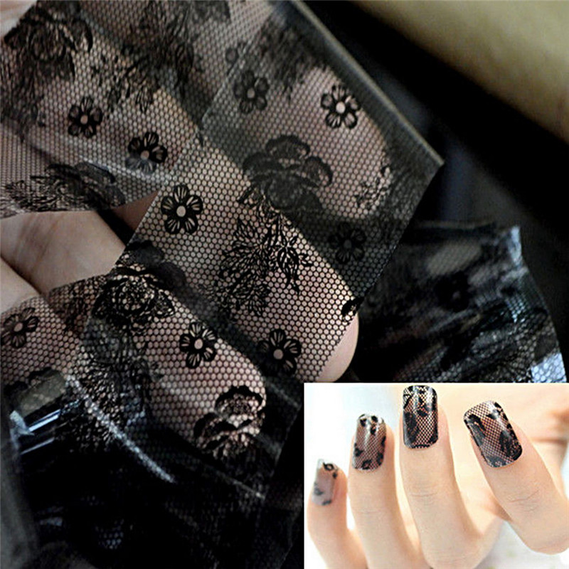 Black Lace 3D Nail Art Sticker