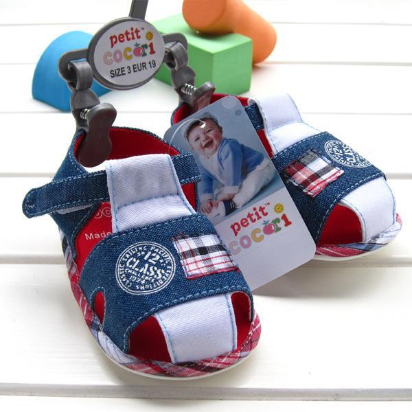 2016 new summer baby shoes good quality cow boy denim blue baby kids cotton with size label clip , size 2 3 4 in stock