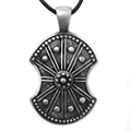 10PCS Viking Shield Pendant Necklace With Chain Warriors And Legends Valor Necklace Antique Silver Medieval Viking