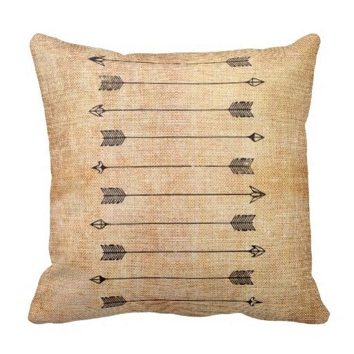 Fit Hipster Rustic Linen Arrows Pillow Case (Size: 20