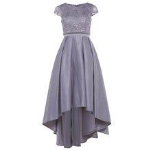 Платье для выпускного бала, розовое платье А-силуэта, недорогое платье с глубоким вырезом и рукавами-крылышками, ассиметричное кружевное пл...(Китай)
