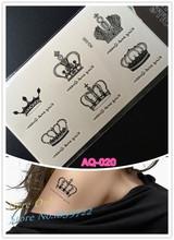 2016 Venda Hot Crown Tatuagem Braço Pulso Mulheres tatuagem beleza impressão do corpo do flash tatouages femme homme dos homens das mulheres do tatuagem nova projeto