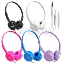 Over Head Boys Girls Kids Childs Teens STEREO DJ Headband Headphones Headset Earphones With Mic For iPhone iPod iPad Call Phone