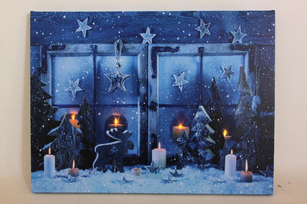 Fiber Optic Canvas Wall Art Christmas